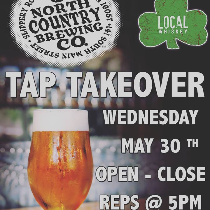 Come join us this Wednesday, May 30th for a @northcountrybrewing Tap Takeover!! We will be featuring 11 unique and delicious North Country Brews that will be sure to make your mouth water!! ••• Reps will be here at 5pm to hand out some free/awesome giveaw