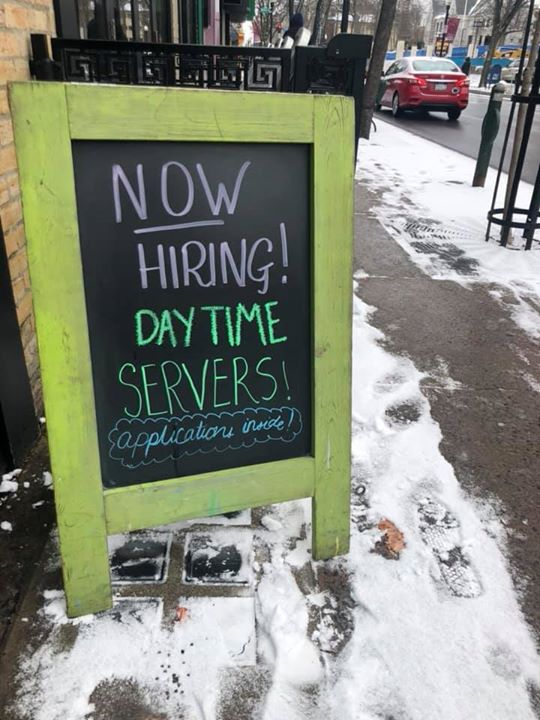 Come escape the cold and apply within today!!