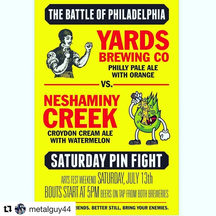 Don't miss out! Arts Fest Saturday @localwhiskeybar, 5pm, Philly Beer Showdown! Who will be crowned victorious!?! ••• YOU DECIDE!! ••• #Repost @metalguy44 with @get_repost ・・・ Saturday, July 13th. 5pm. @localwhiskeybar Franklin from Yards and myself bloo