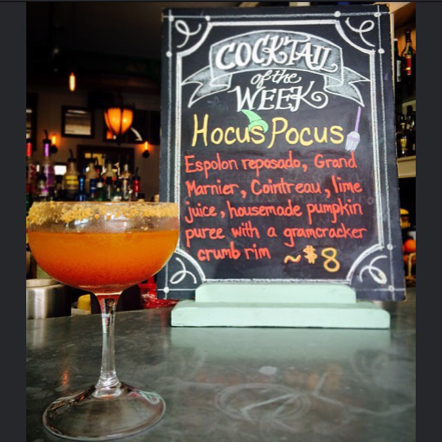 Come in and try our new cocktail of the week!! #cocktailoftheweek #localwhiskey #espolontequila #grandmarnier #cointreau #margarita #hocuspocus