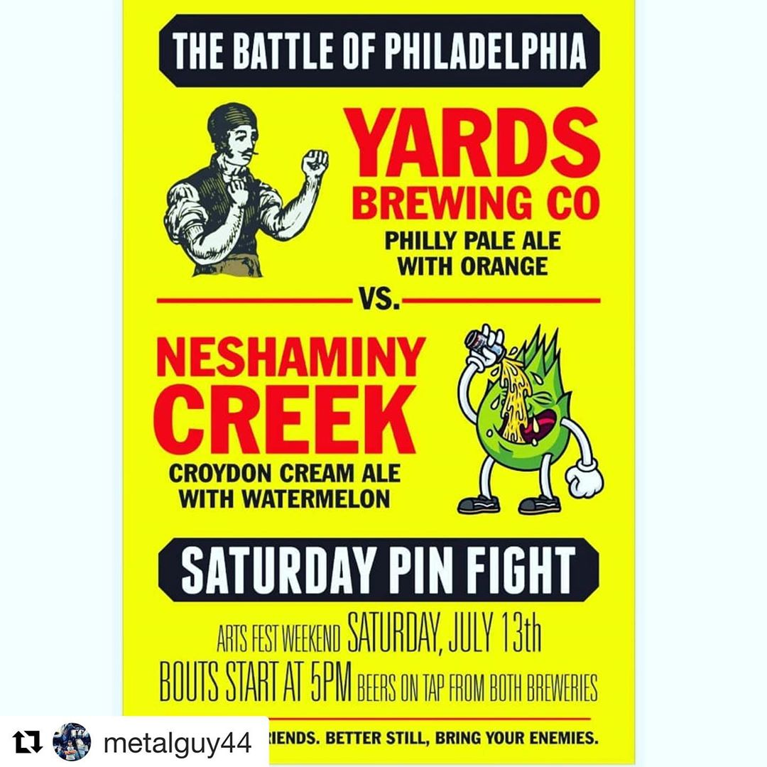 Don't miss out! Arts Fest Saturday @localwhiskeybar, 5pm, Philly Beer Showdown! Who will be crowned victorious!?! ••• YOU DECIDE!! ••• #Repost @metalguy44 with @get_repost ・・・ Saturday, July 13th. 5pm. @localwhiskeybar Franklin from Yards and myself blood